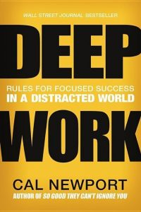 Cover of the book - Deep Work Rules for Focused Success in a Distracted World