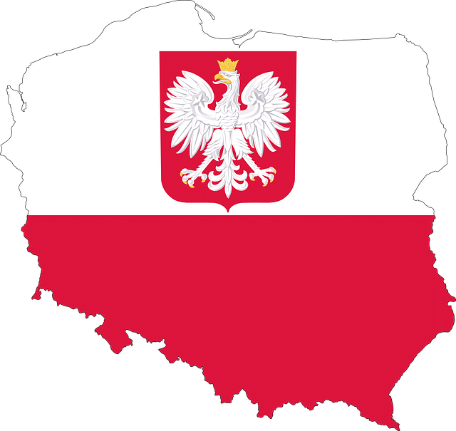 Map and flag of Poland.